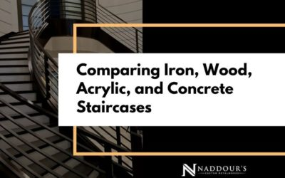 Comparing Iron, Wood, Acrylic, and Concrete Staircases
