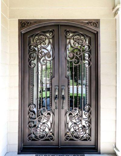 Custom Double Wrought Iron Doors