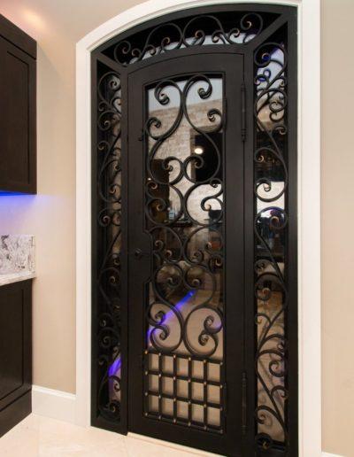 Custom black wine cellar iron doors by Baltic 2