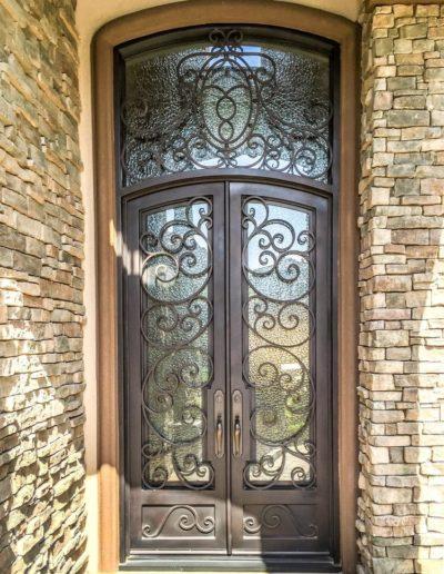 Custom Wrought Iron Double Doors Design
