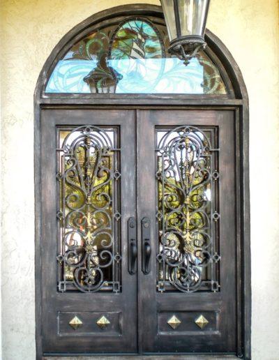 Custom Iron Double Doors Design