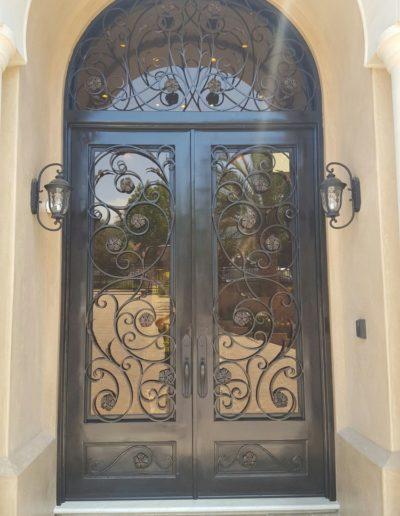 Custom Double Iron Doors Design