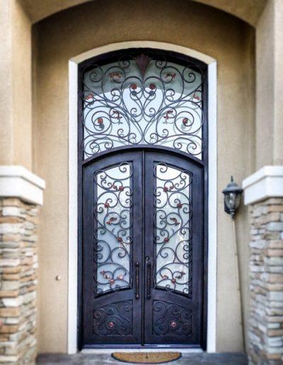 Custom Wrought Iron Double Doors