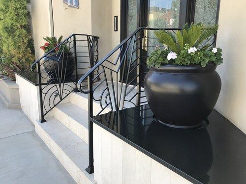 Modern Iron Works Hand-Forged Balcony Railing